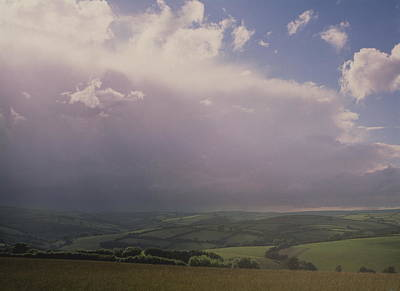 Rain Storm Over Exmoor Art Print by Tony Craddock/science Photo Library
