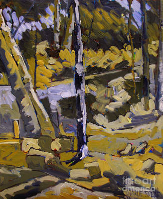 Selecting Painting - Rain Swollen Eel River by Charlie Spear
