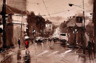 Rain Art Print by Timorinelt Tryptykieu