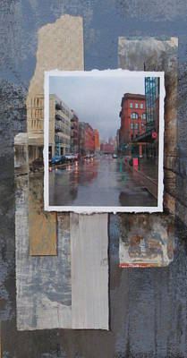 Mixed Media - Rain Water Street  by Anita Burgermeister