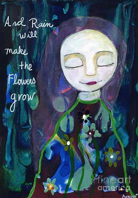 Painting - Rain Will Make The Flowers Grow by AnaLisa Rutstein