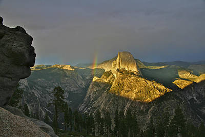 Photograph - Rainbow And Half Dome 3 by SC Heffner