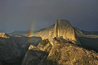 Photograph - Rainbow And Half Dome by SC Heffner