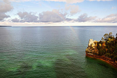 Photograph - Rainbow At Miners Castle Rock by Theo O'Connor