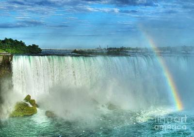 Rainbow At Niagara Art Print by Mel Steinhauer
