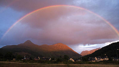 Photograph - Rainbow At Sunset Scotland Uk by Dubi Roman