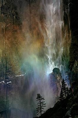 Rainbow At Upper Yosemite Falls Print by Jetson Nguyen