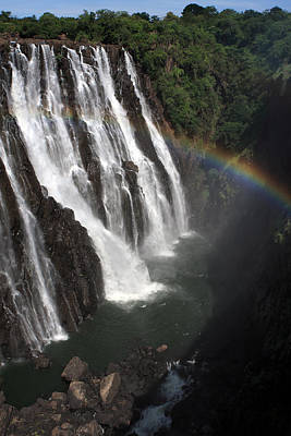 Photograph - Rainbow At Victoria Falls by Aidan Moran
