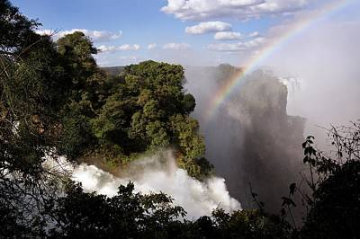 Victoria Falls Photograph - Rainbow At Victoria Falls by Steve Allen/science Photo Library