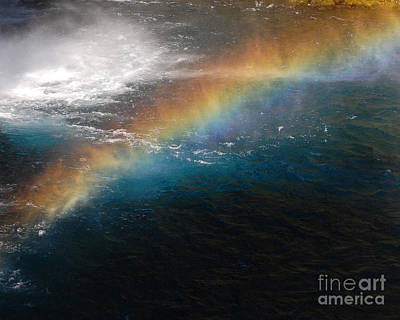 Photograph - Rainbow At Waterfall Base by Debra Thompson