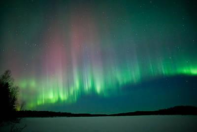 Aurora Photograph - Rainbow Aurora 1 by Dora Miller