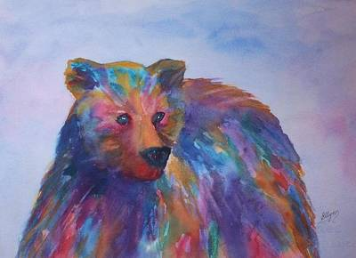 Painting - Rainbow Bear by Ellen Levinson