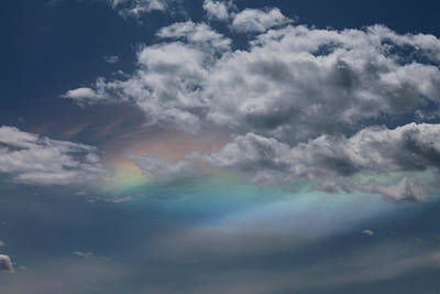 Photograph - Rainbow Behind The Clouds by Cathie Douglas