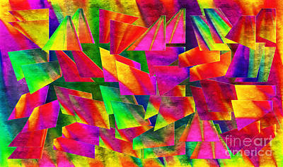 Digital Art - Rainbow Bliss 2 - Twisted - Painterly H by Andee Design