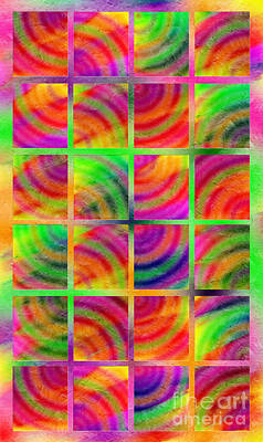 Digital Art - Rainbow Bliss 3 - Over The Rainbow V by Andee Design