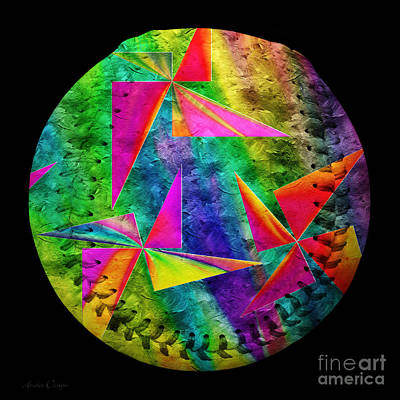 Photograph - Rainbow Bliss Pinwheels Baseball Square by Andee Design