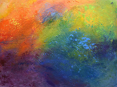 Painting - Rainbow Blue by Linda Bailey