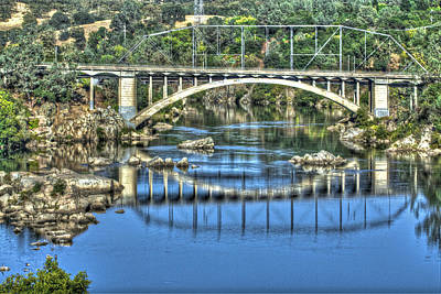 Photograph - Rainbow Bridge 2 Folsom  by SC Heffner