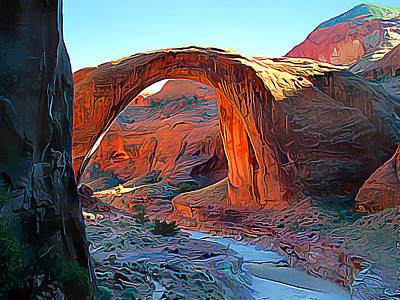 Rainbow Bridge National Monument Art Print by Wernher Krutein