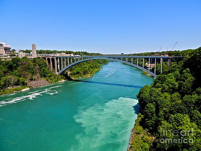 Photograph - Rainbow Bridge - Niagara Falls by Eve Spring