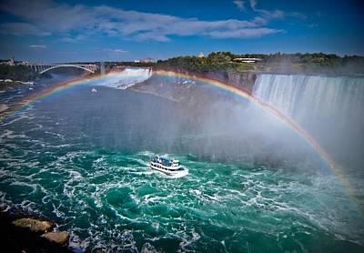 Rage Digital Art - Rainbow Bridge Rainbow by Linda Unger