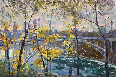 Ontario Painting - Rainbow Bridge by Ylli Haruni