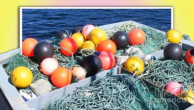 Rainbow Buoys Art Print by Barbara Griffin