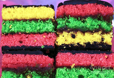 Photograph - Rainbow Cake by John Rizzuto