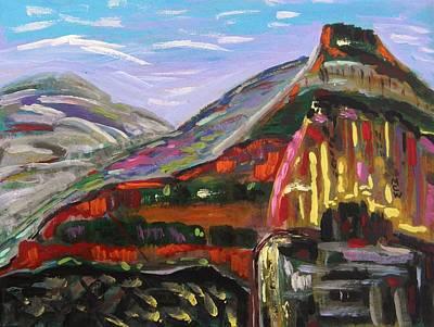 Rainbow Canyons Art Print by Mary Carol Williams