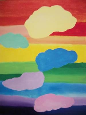 Chakra Rainbow Painting - Rainbow Chakra Healing Clouds by Leonardo Vidal