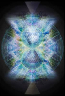 Digital Art - Rainbow Chalice Cell Isphere Matrix II by Christopher Pringer