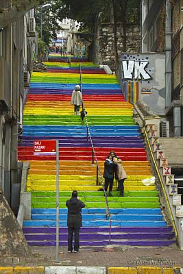 Photograph - Rainbow Climb by Ronald Hoehn