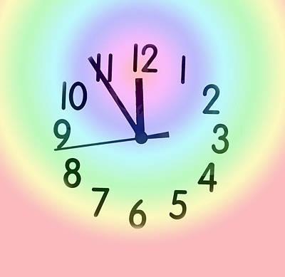 Digital Art - Rainbow Clock by Ian  MacDonald
