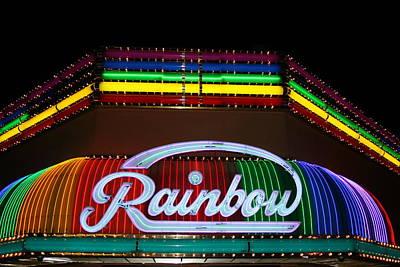 Rainbow Club Neon Art Print