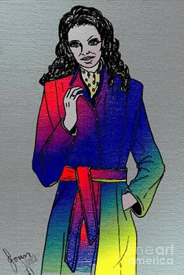Mixed Media - Rainbow Coat by Joan-Violet Stretch
