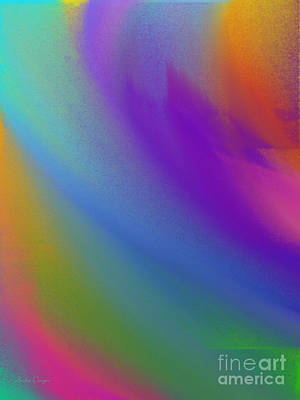 Rainbow Color Wave Abstract Art Print by Andee Design