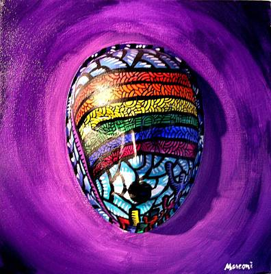 Mixed Media - Rainbow Connection Purple by Marconi Calindas