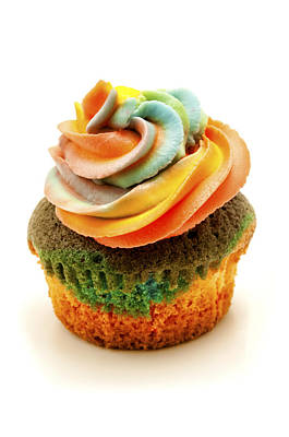 Photograph - Rainbow Cupcake  by Fabrizio Troiani