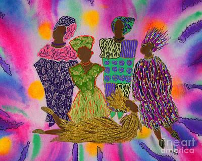 Mixed Media - Rainbow Dance Ensemble by Angela L Walker