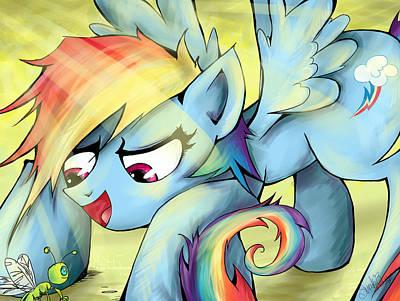 My Little Pony Digital Art - Rainbow Dash by Sarah Bavar
