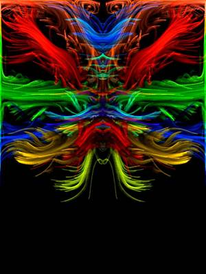 Digital Art - Rainbow Dragon by Kruti Shah