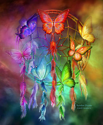 Mixed Media - Rainbow Dreams by Carol Cavalaris