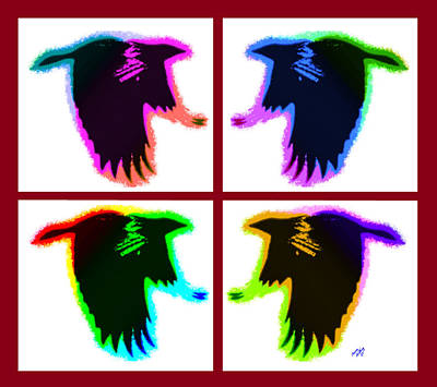 Gaudy Painting - Rainbow Eagles by Bruce Nutting