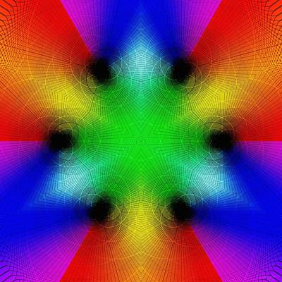 Mixed Media - Rainbow Ecstasy by Derek Gedney
