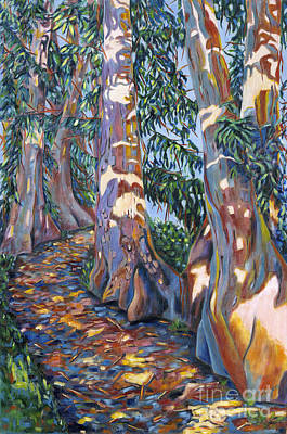 Painting - Rainbow Eucalyptus by Artimis Alcyone