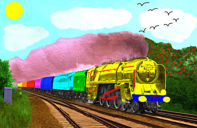 Rainbow Express Art Print by Bruce Nutting