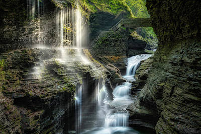 Seneca Lake Photograph - Rainbow Falls by Bill Wakeley
