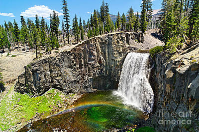 Natural Pool Photograph - Rainbow Falls In Mammoth Lakes California by Jamie Pham