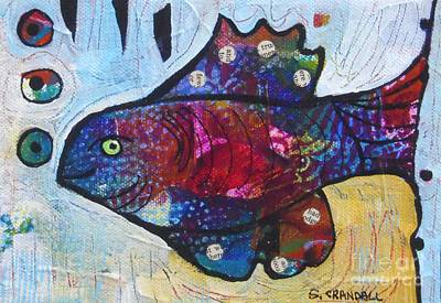 Rainbow Trout Mixed Media - Rainbow Fish by Shannon Crandall