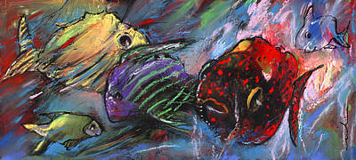 Painting - Rainbow Fishes by Miki De Goodaboom
